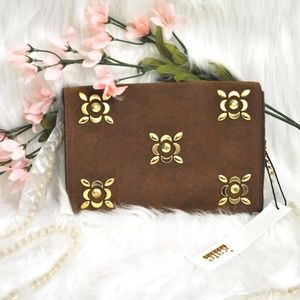 Kate Landry NWT Cognac Colored Cross Body Purse
